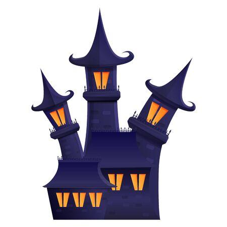halloween gloomy estate cartoon icon, vector illustration 일러스트
