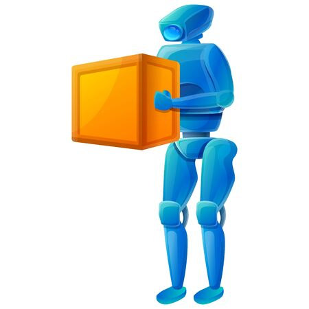 robot icon with a box, vector illustration 일러스트
