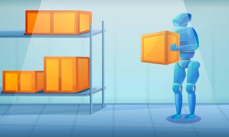 warehouse robot, vector illustration 일러스트