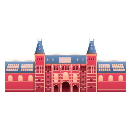 rijksmuseum landmark of amsterdam in the netherlands, vector illustration 스톡 콘텐츠 - 137480930