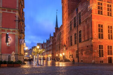 streets of the old city in gdansk in poland