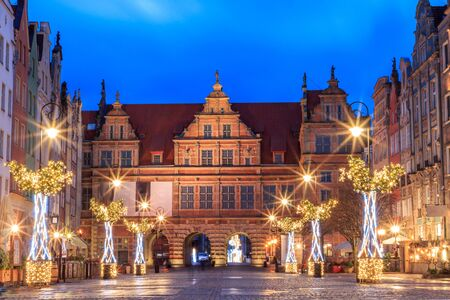 New Year's gate to the old city of Gdansk