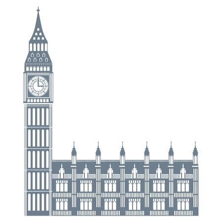 big ben landmark uk icon, vector illustration