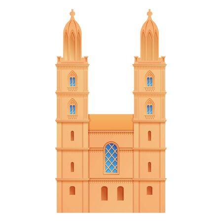 church zurich in switzerland, vector illustration 스톡 콘텐츠 - 140289295