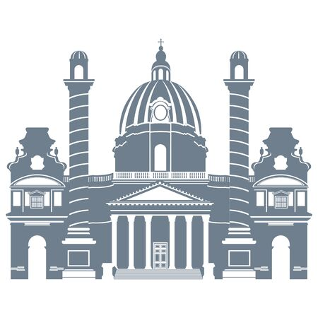 Church Vienna in Austria, vector illustration 스톡 콘텐츠 - 140289341