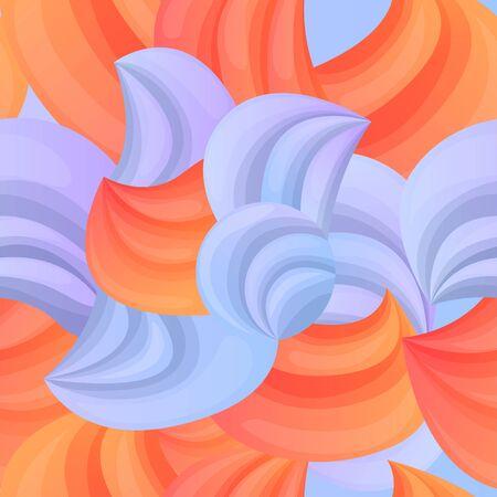 Beautiful cartoon abstract seamless background, vector illustration 스톡 콘텐츠 - 143750831