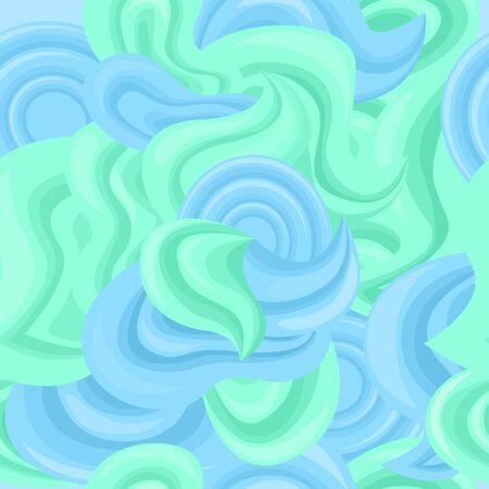 Beautiful cartoon abstract seamless background, vector illustration 스톡 콘텐츠 - 143929504