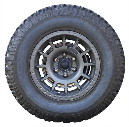 Car wheel on white background, tires car wheel Stock Photo