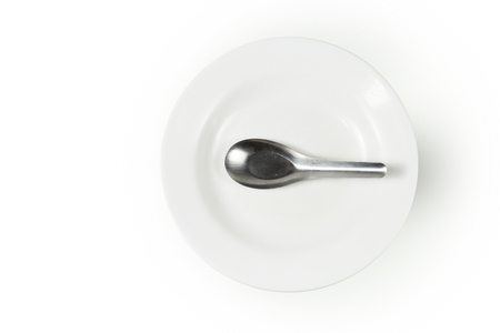 dish and spoon, Concept of food shortage, without food