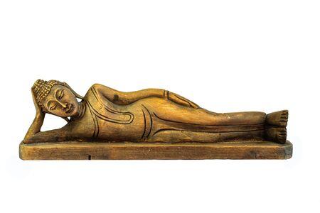 beliefs: Buddha carved wooden birthday beliefs of Buddhists.