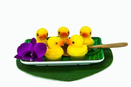 Duckling cute delicious jelly snack.
