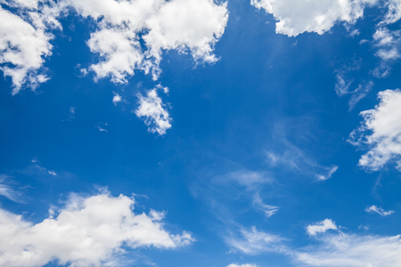 Blue sky and white clouds for beautiful  background.