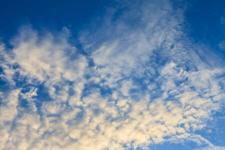 the firmament: Blue sky and white clouds for beautiful  background.