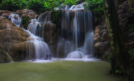 Beautiful waterfall in  national park of Thailand.