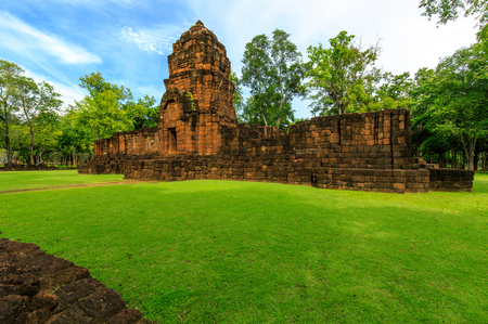 Muang sing stone castle, The old stone castle in Kanchanaburi province, Thailand.