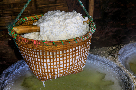 Ancient salt production in rural of Thailand.