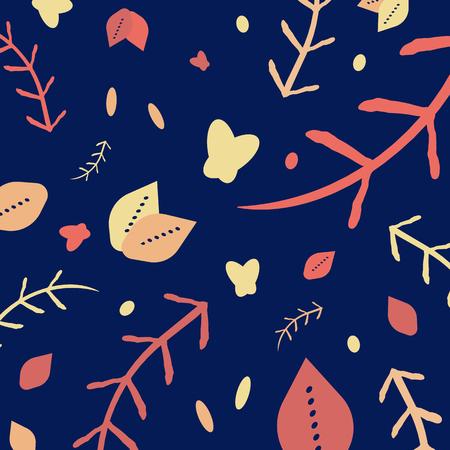 nature foliage pattern Çizim