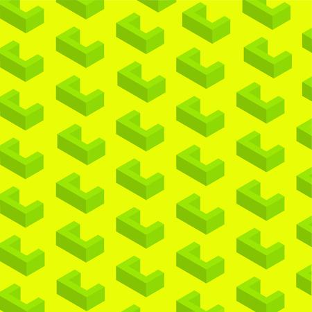 Floating shelf isometric geometric pattern