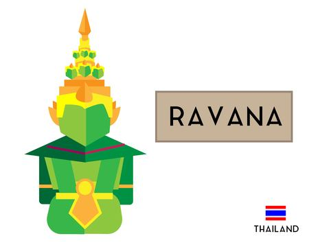 Yak (Thai demon) or Tossakan (Thai ravana) in ramayana (Thai Literature)