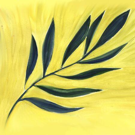 Watercolor hand drawn botanical illustration.