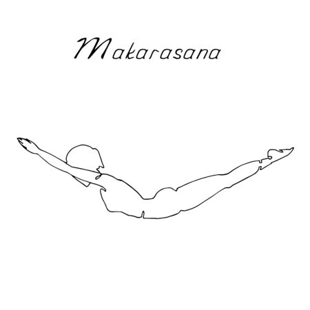Vector illustration with indoor online physical exercises.