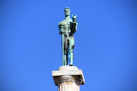 Statue of the Victor or Statue of Victory symbol of Belgrade, Serbia