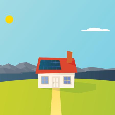 Solar Powered House on a Lake
