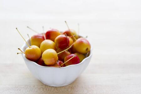 bowl with crabapples Stock Photo
