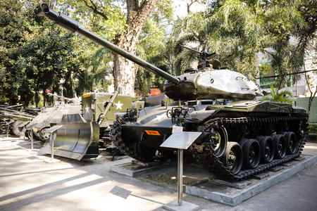 Ho Chi Minh City, Vietnam - January 19, 2016: The War Remnants Museum is a war museum in District 3, Ho Chi Minh City, Vietnam.