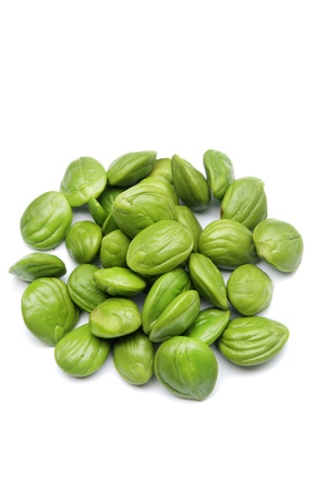 Petai, Bitter beans On White Backgound Stock Photo - 16181280
