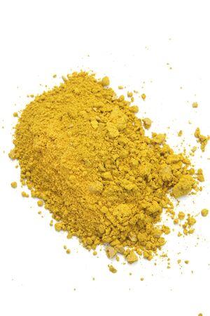 galangal: Galangal powder food ingredient in white background  Stock Photo