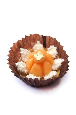 jah: Ancient Thai dessert, Jah Mongkhut   The Royal Crown   on white background