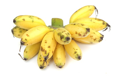 backgraound: Lady Finger bananas isolated on white backgraound
