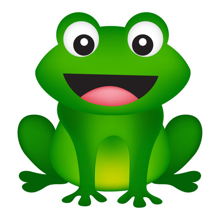 froggy: Illustration of a cute smiling frog isolated on white background