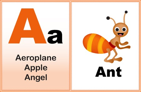 preschool: Alphabet letter A with clip-art and few similar words starting with the letter printable graphic for preschool  kindergarten kids