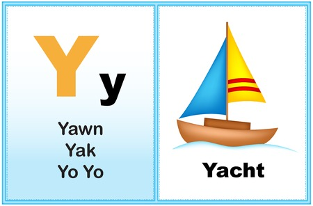 yoyo: Alphabet letter Y with clip-art and few similar words starting with the letter printable graphic for preschool  kindergarten kids