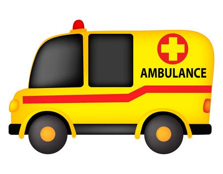 emt: Illustration of a ambulance isolated on white background Illustration