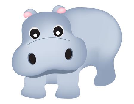 Cute hippopotamus illustration isolated on white illustration for kids
