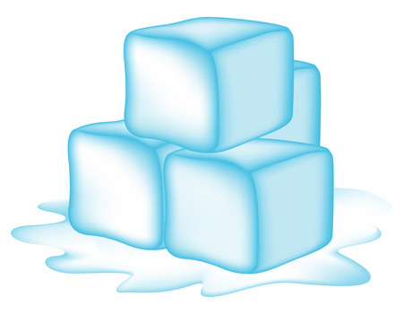 ice cubes: Illustration of ice cubes isolated on white background