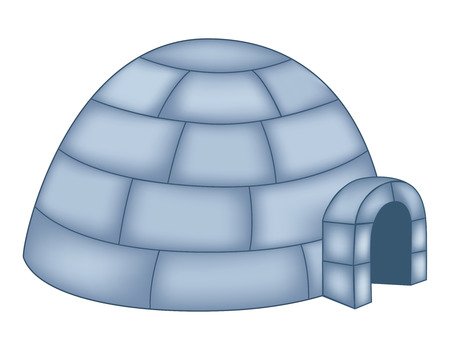 Isolated illustration of an igloo on white background Vector