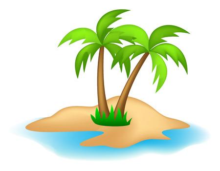 islet: Illustration of an island isolated on white background