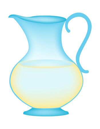 Illustration of a glass jug with fresh fruit juice isolated on white background Vector