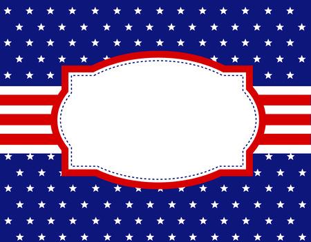 USA patriotic 4th of july design background  frame Vector