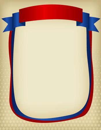 american poster:  EE.UU. marco patri�tico americano con bandera de la cinta en la parte superior. Un dise�o del cartel de American Vintage tradicional Vectores