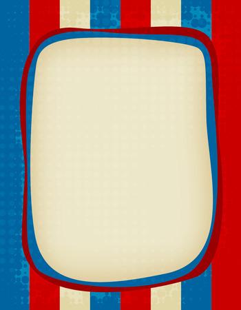 Red and blue grunge USA flag background / frame