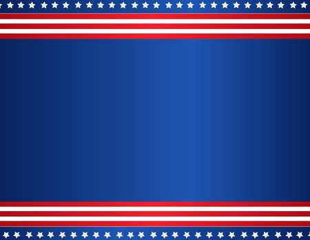 Stars and stripes USA patriotic background  border Vector