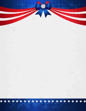 american poster: Americano  EE.UU. grunge marco patri�tico con la bandera de la cinta y el arco con el cristal en la parte superior. Un dise�o del cartel americano de la vendimia tradicional
