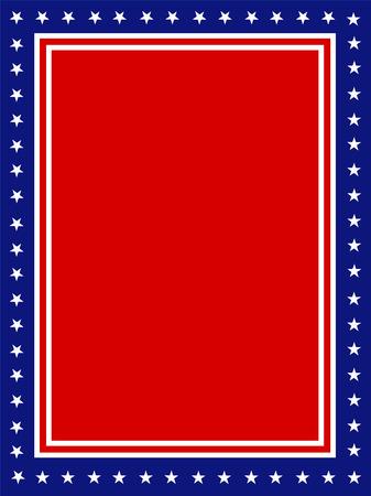 patriotic border: Azul y rojo estrellas patri�ticas y p�gina rayas dise�o de la frontera  marco para 4� de juy