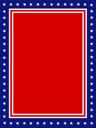 patriotic border: Blue and red patriotic stars and stripes page  border  frame design for 4 th of juy