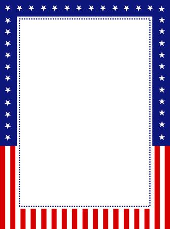 sfondo strisce: Blu e rosso stelle patriottiche e la pagina di strisce di frontiera  telaio disegno per 4 LUGLIO